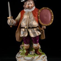 Фальстаф-кавалер с мечем и щитом, Derby, Великобритания, 19 в