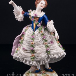Танцовщица Камарго, кружевная, Volkstedt, Германия, до 1935 г