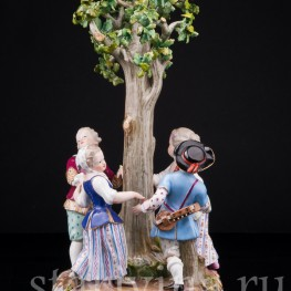 Хоровод под деревом, Meissen, Германия, 19 в