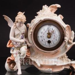 Фарфоровые часы Лесная фея Volkstedt, Германия, 19 в.