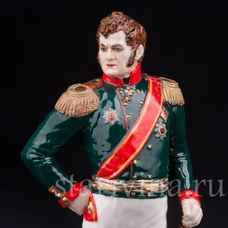 Коллекционная фарфоровая статуэтка Русский генарал А. П. Ермолов, Россия, совр.