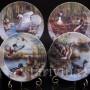 Декоративная фарфоровая тарелка Гордые лебеди, Ottlinger Porzellan, Германия, 1995 г.