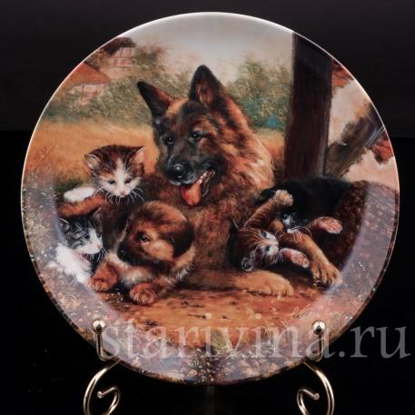 Декоративная фарфоровая тарелка Мама для всех, Seltmann Weiden, Германия, 1993 г.